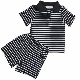 Black little stripes set