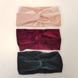 Velvet winter headband