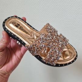 Diamond slippers - champagne