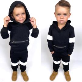 Hooded Little boss set - black