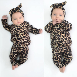 Baby all leopard set