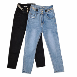 Chained blue or black jeans