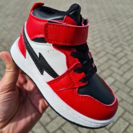 Red lightning sneaker
