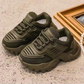 Green Sporty sneaker - kids