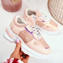 Pink snake sneakers