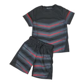 Red stripes set