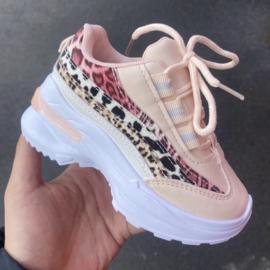 Pink animal sneakers