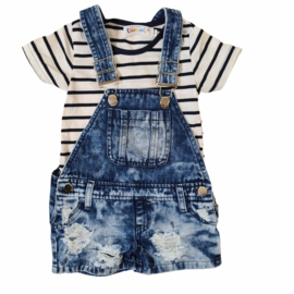 Blue dungaree set