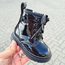 Shiny black boots