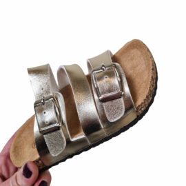 The buckled slipper - Gold