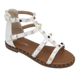 Just a little color sandals - White