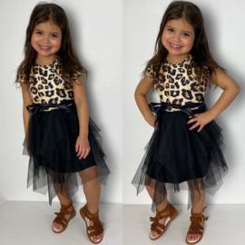 Tule & leopard dress