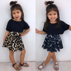 Leopard circle skirt