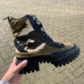 Camo  platform boots