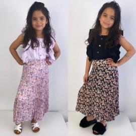 Pleated flower skirt