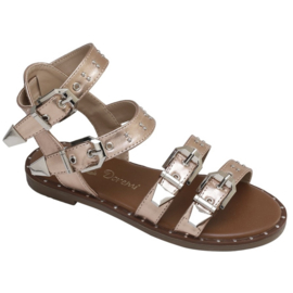 Champagne buckle sandals