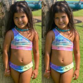 One shoulder bikini - Tie dye