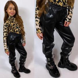 Leatherlook sweatpants