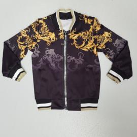 Black & gold vest