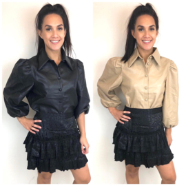 Leatherlook blouse