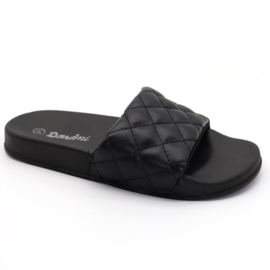 Quilted slipper - Black