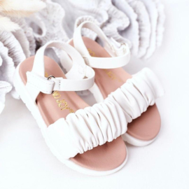 A day at the beach sandal - White
