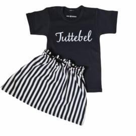 Tuttebel & Striped skirt set