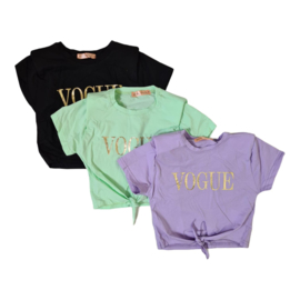 Knotted vogue top