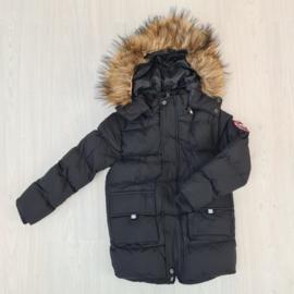 Furry boys jacket - black