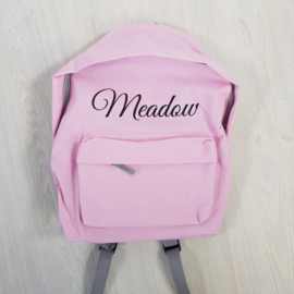 Name backpack pink