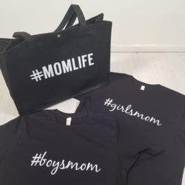 #Momlife bag + Girls/Boysmom tee