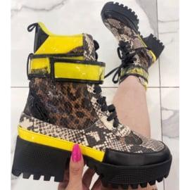 Printed  platform boots