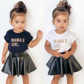 Leopard mama's girl & Skirt set