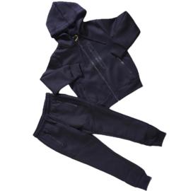 Blue zipped set