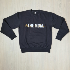 The mom of gold sweater