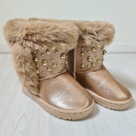 Pearls champagne winterboots