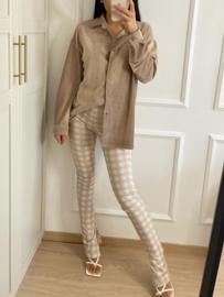 Corduroy blouse - beige