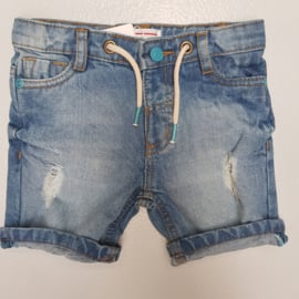 Blue details denim short