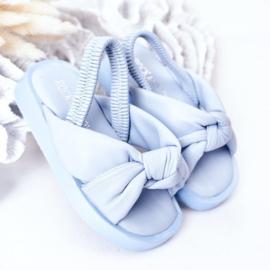 Blue pastel slipper