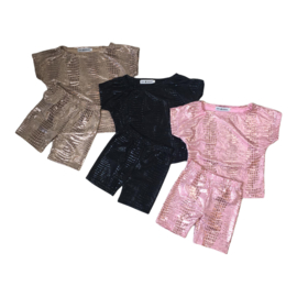Croco bicycle short set