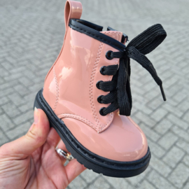 Shiny pink boots