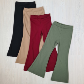 4 colors basic flair pants