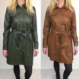 Mommy's leatherlook blouse dress