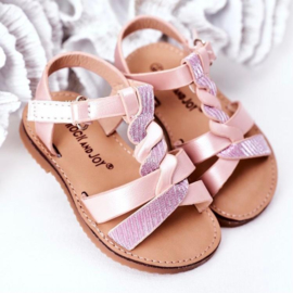 Glitter braided sandals