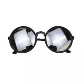 Round mirror sunglasses - black
