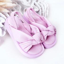 Purple pastel slipper
