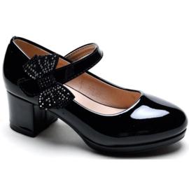 Shiny heels - black