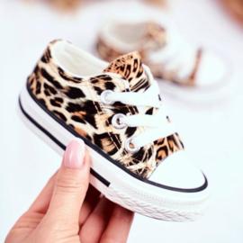 Brown make it roar sneaker