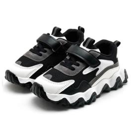 Boys black & white sneakers