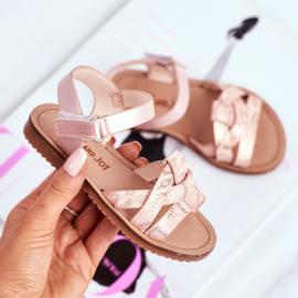 Pink snake sandals